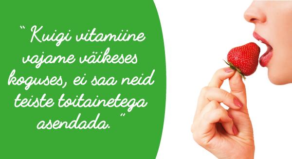 Vitamiinid valu ja kimpudega